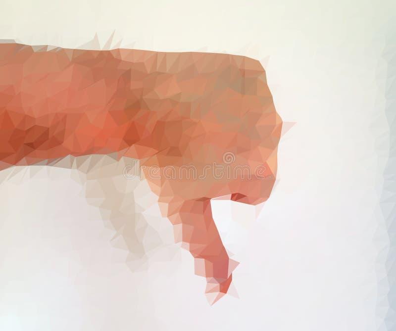Den manliga m?nniskan polygonized handen som visar olika gester arkivbilder