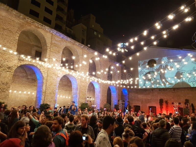 Den `-Manzana de las luces `en i museum`-natten royaltyfri foto