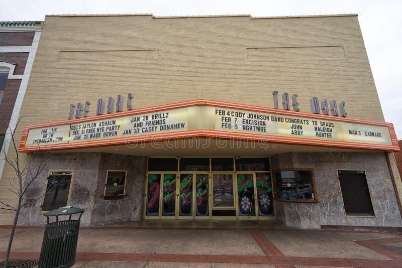 Den Marc byggnaden i San Marcos Texas fotografering för bildbyråer