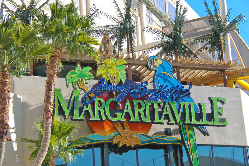 Den Margaritaville restaurang-gåvan shoppar i Las Vegas royaltyfri foto