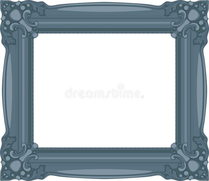 Den marinblåa barocken inramar. vektor illustrationer