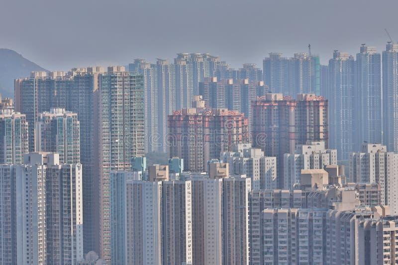 Den 22 mars 2020 i det offentliga huset i Hongkong i TKO fotografering för bildbyråer
