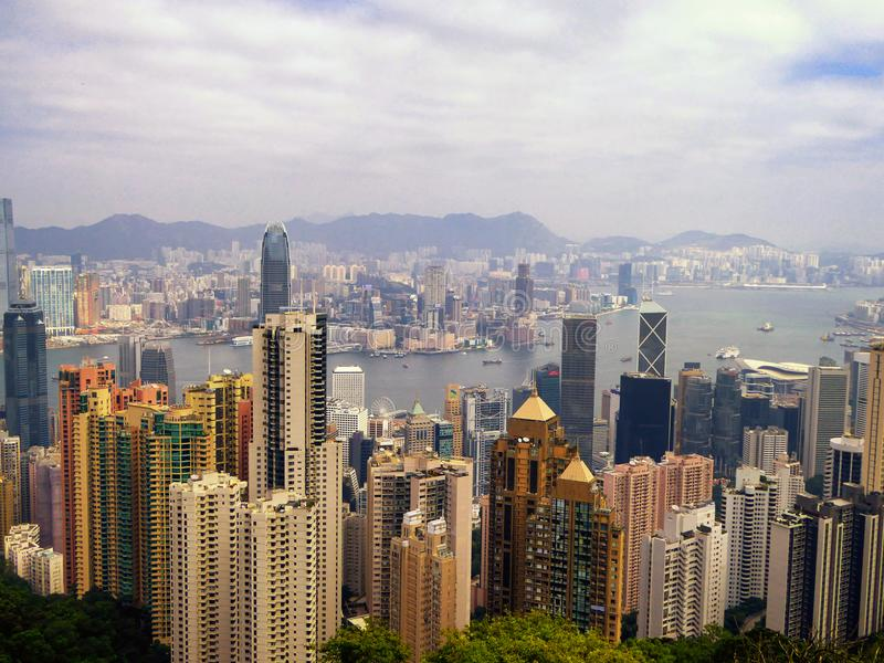 Den maximala Hong Kong sikten arkivfoto
