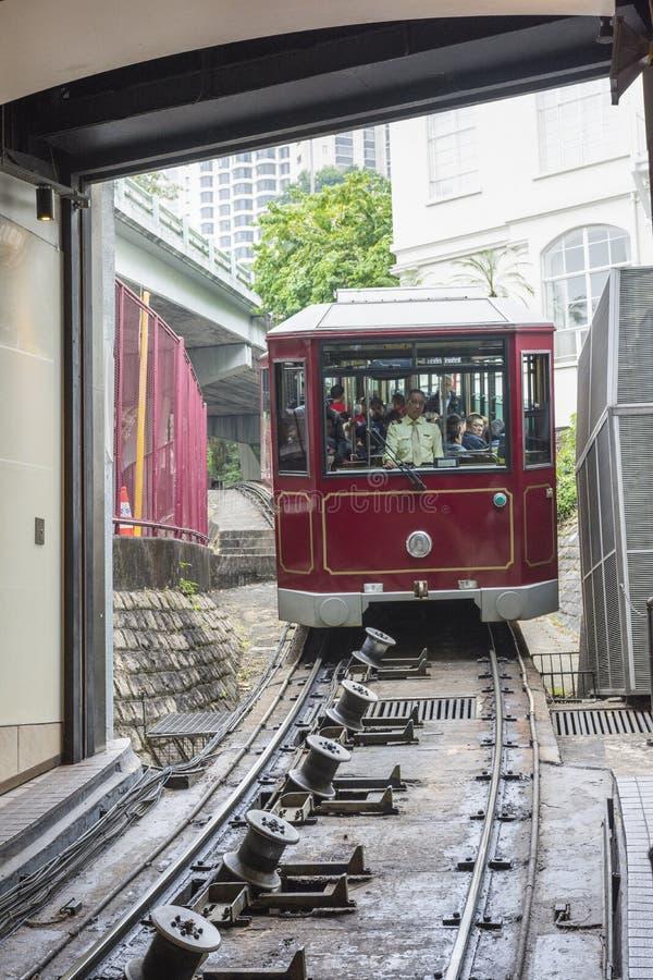 Den maximala spårvagnen i Hong Kong arkivbild