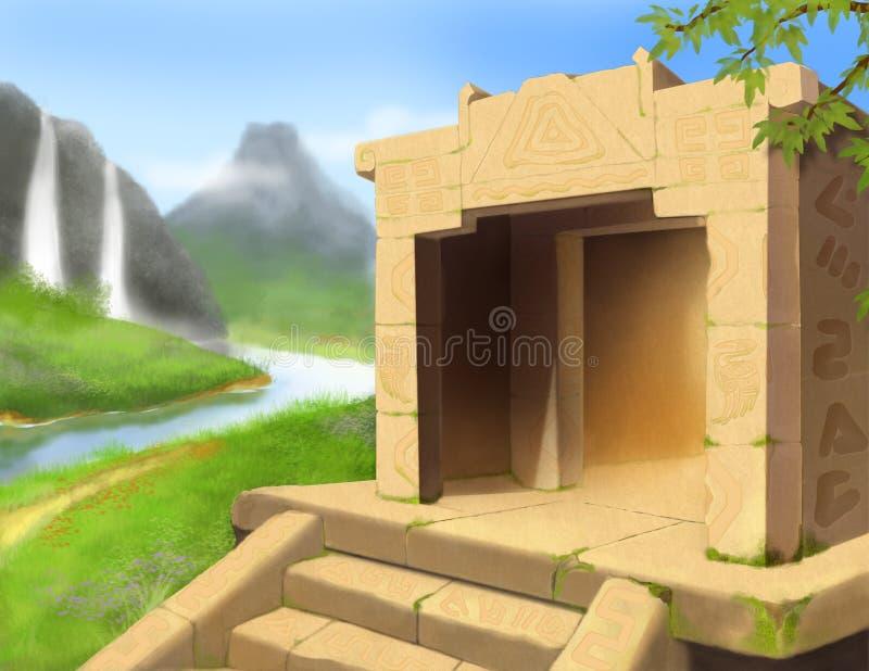Den Mayan kodlekbakgrunden vektor illustrationer