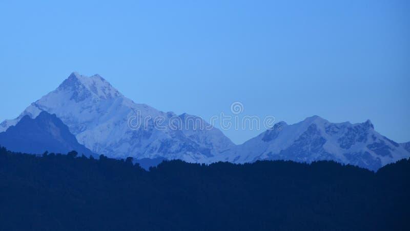 Den med Kanchenjungaen arkivfoto