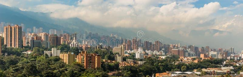 Den Medellin staden landskap royaltyfria foton