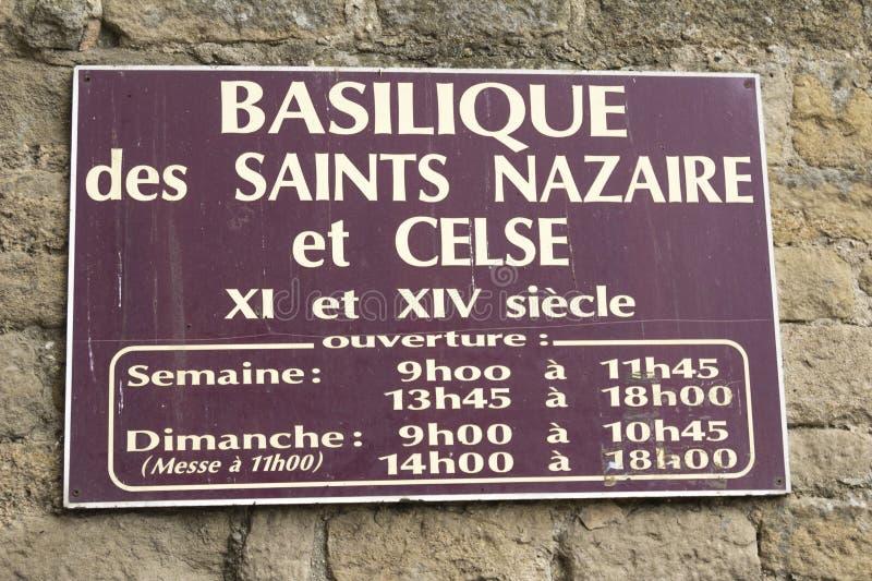 Den medeltida fästningen av Carcassonne arkivbilder