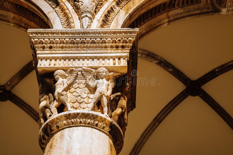 Den medeltida gamla stadsrektorns palats i Dubrovnik, Kroatien royaltyfri foto