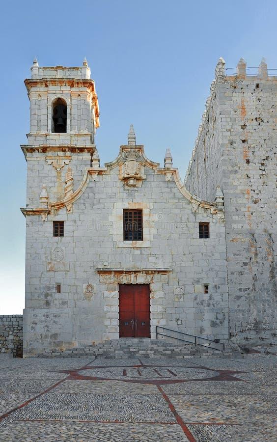 Den medeltida kyrkan av riddarna Templar Spanien Valencia, penna arkivbilder