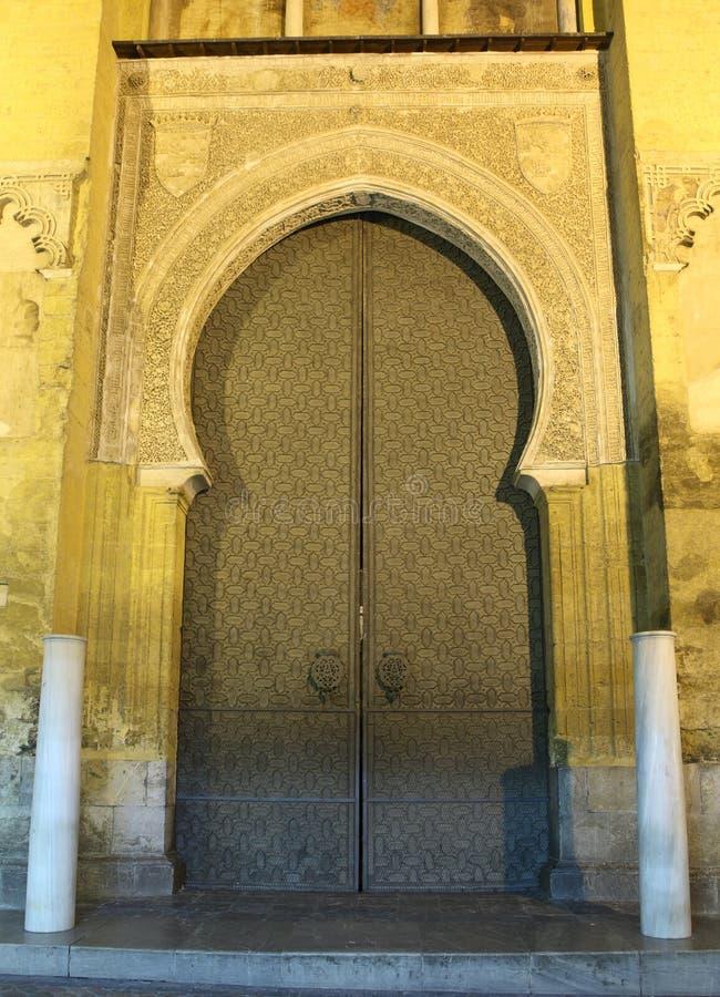 Den Medeltida Moskén Utfärda Utegångsförbud För I Cordoba Royaltyfri Bild