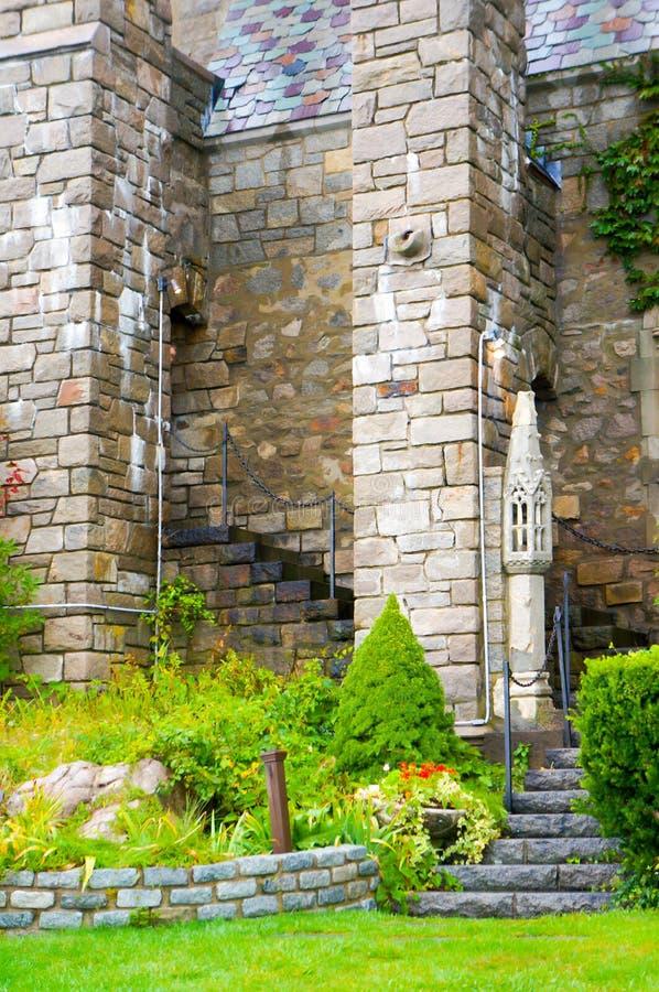 Den medeltida roman slotten fördärvar, den Portchester slotten, fotografering för bildbyråer