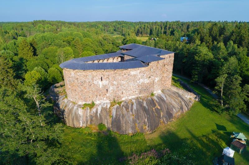 Den medeltida slotten av Raseborg Snappertuna Finland royaltyfri foto
