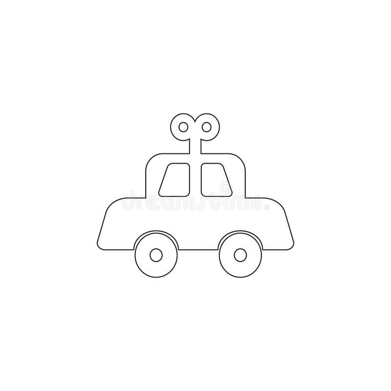 Den mekaniska bilen behandla som ett barn leksaksymbolen Leksakbeståndsdelsymbol Högvärdig kvalitets- symbol för grafisk design B vektor illustrationer