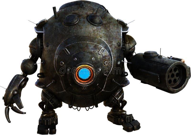 Den mekaniska maskinroboten Droid isolerade royaltyfria foton