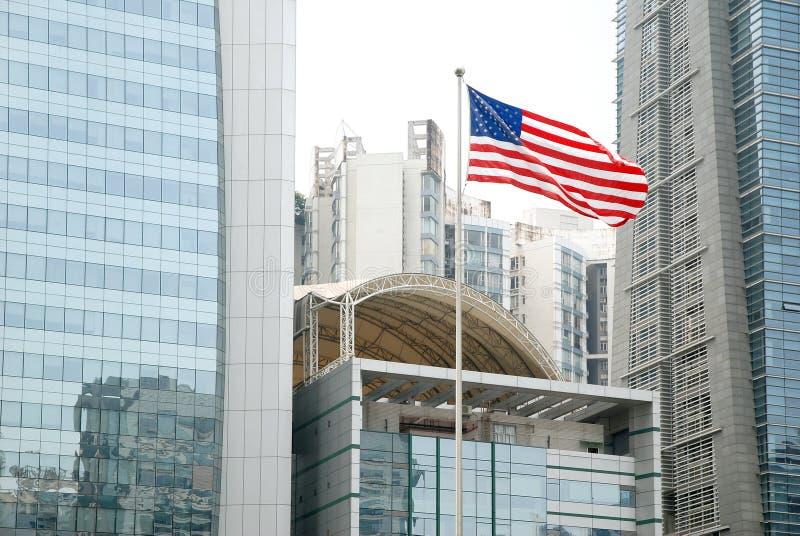 Den merican flaggan royaltyfri foto