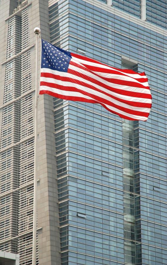 Den merican flaggan fotografering för bildbyråer