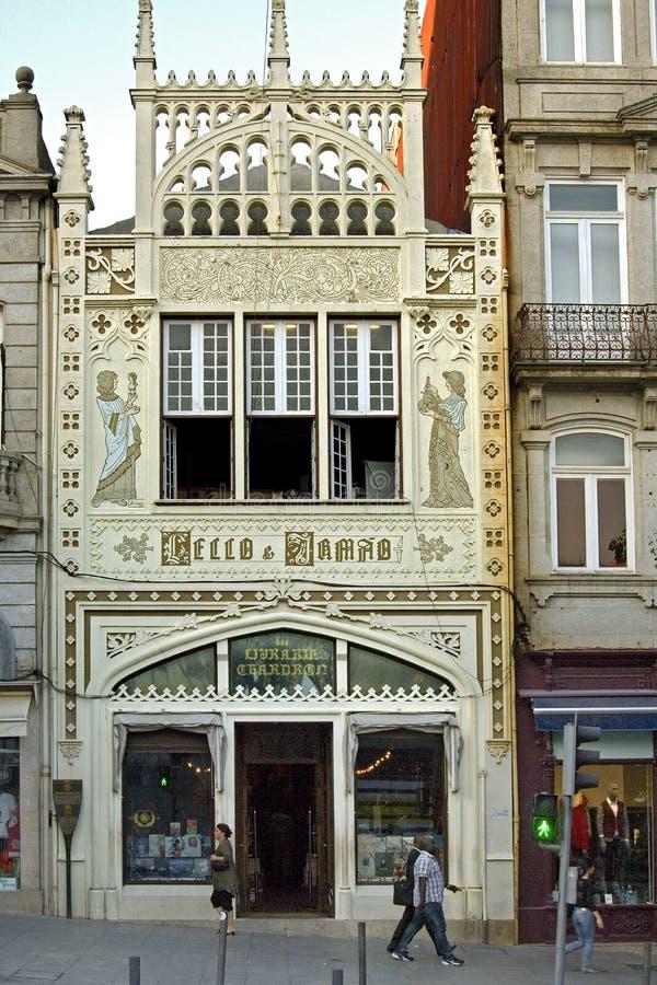 Den mest berömda bokhandeln i världen i Porto arkivfoto