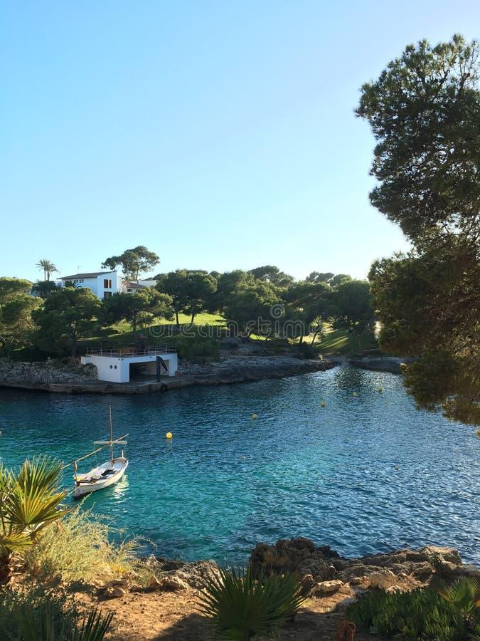 Den mest härliga stranden i Mallorca Balearic Island - Spanien arkivbilder