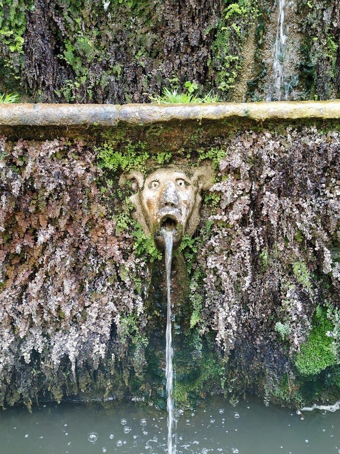 Den mest kusliga Fontainen i Rome arkivfoton