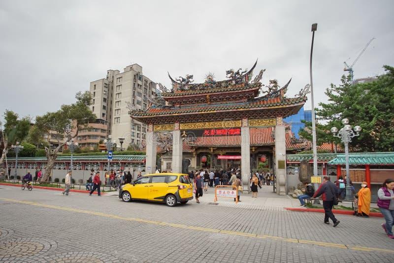Den mest Longshan templet i Taipei, Taiwan royaltyfria foton