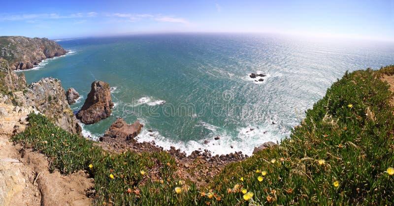 Den mest västra punkten av Europa, Cabo da Roca, Portugal fotografering för bildbyråer