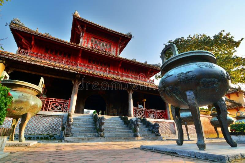 Den Mieu borggården imperialistisk stad Hué vietnam arkivbilder