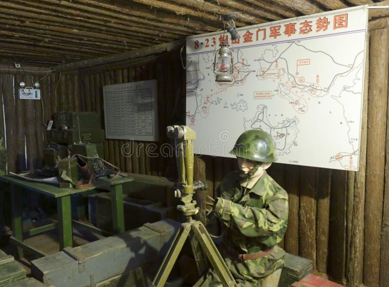 Den militära tunnelen i museum av slagfältet parkerar arkivfoton