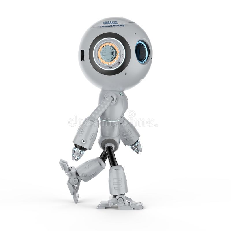 Den mini- roboten går royaltyfri illustrationer