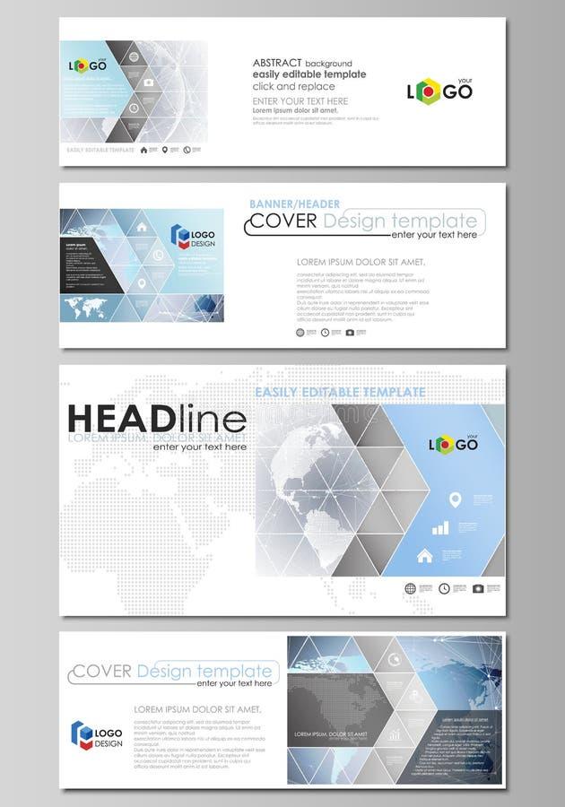 Den minimalistic vektorillustrationen av den redigerbara orienteringen av socialt massmedia, emailtitelrader, banerdesignmallar royaltyfri illustrationer