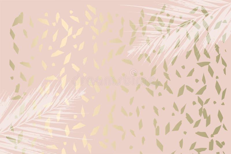 Den moderiktiga höstlövverkmintkaramellen färgade guld- rodnadbakgrund stock illustrationer