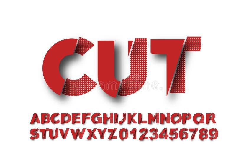 Den moderna abstrakta stilsorten ställde in av alfabettextdesign vektor illustrationer