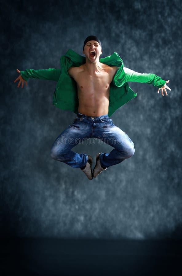 den moderna dansare poserar royaltyfri fotografi