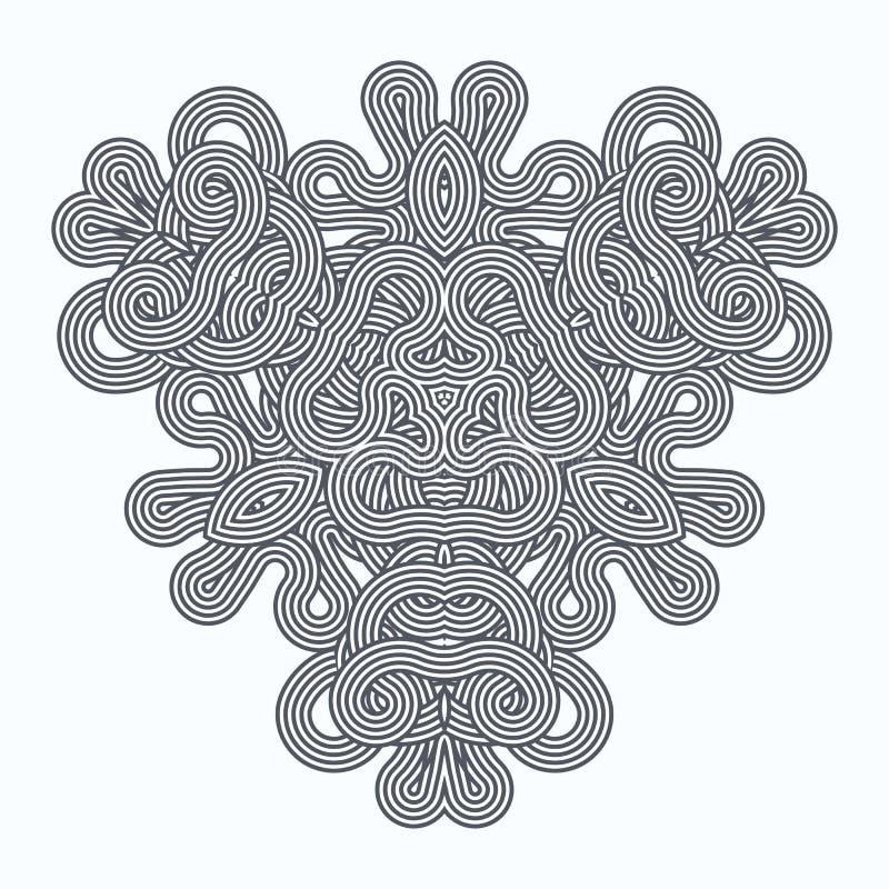 Den moderna doilyrundan snör åt den blom- modellen royaltyfri illustrationer