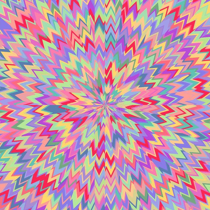 Den moderna doilyrundan snör åt den blom- modellen vektor illustrationer