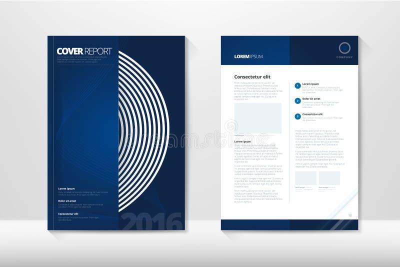 Den moderna räkningsårsrapportbroschyren - affärsbroschyr - katalogisera räkningen, reklambladdesignen, formatet A4, förstasida o royaltyfri illustrationer