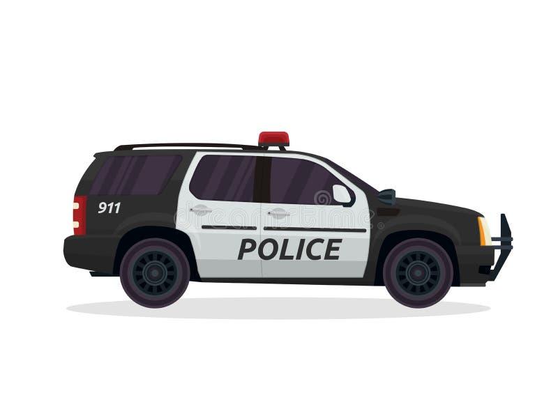 Den moderna stads- polisen patrullerar medelillustrationen stock illustrationer