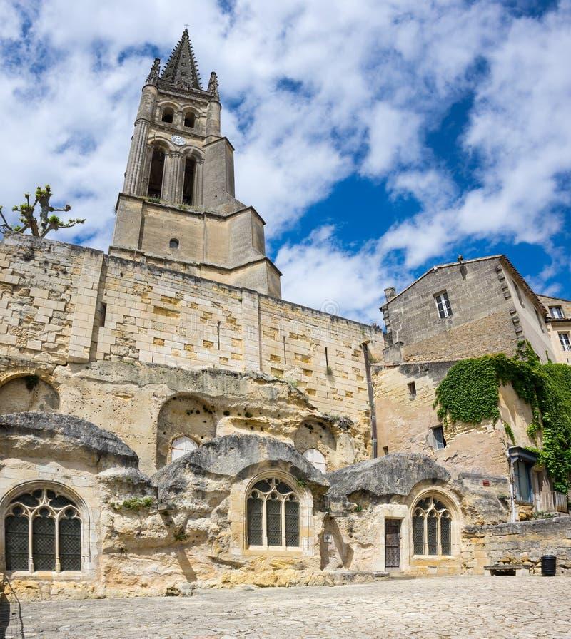 Den monolitiska kyrkan royaltyfria bilder
