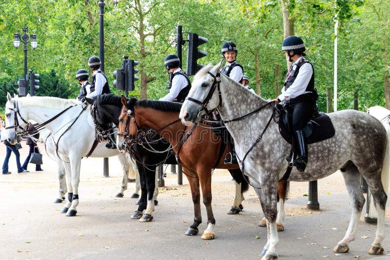 Den monterade polisen i London arkivbilder