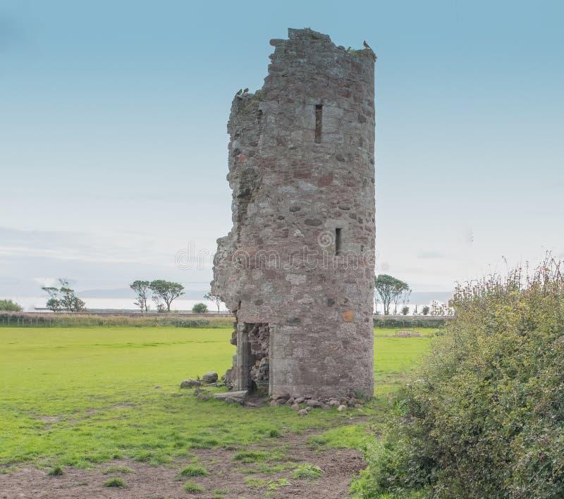 Den Montfode slotten fördärvar Ardrossan Skottland royaltyfria foton
