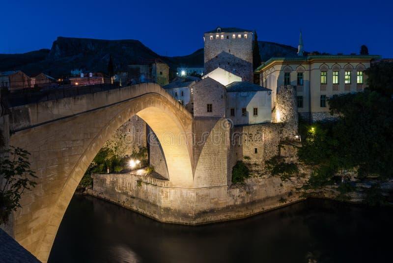 Den Mostar bron arkivbilder