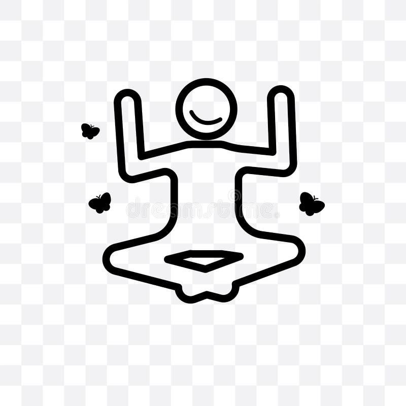 den motiverade linjära symbolen för den mänskliga vektorn som isoleras på genomskinlig bakgrund, det motiverade mänskliga stordia vektor illustrationer