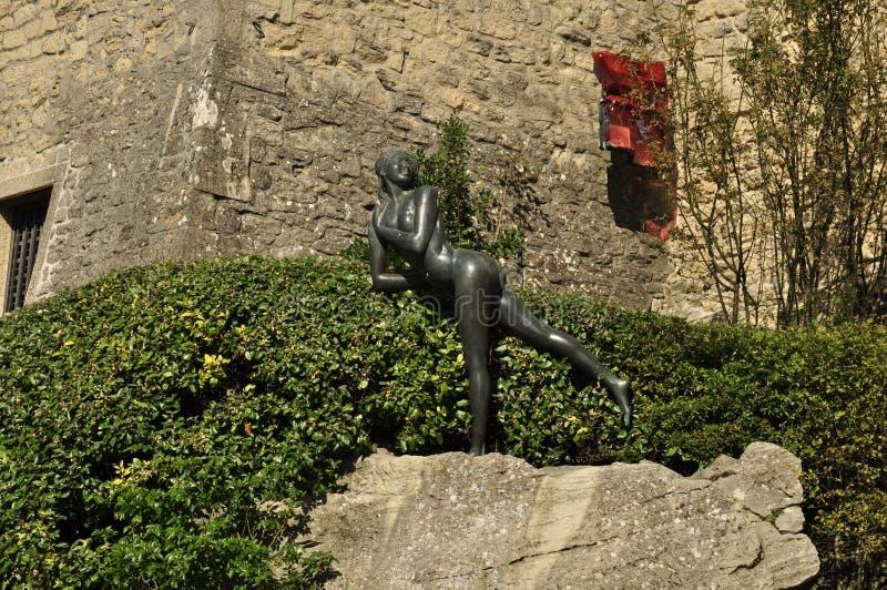 Den nakna skönheten av San Marino arkivbild