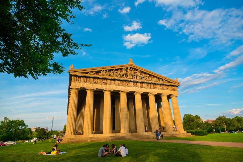 Den Nashville parthenonen i hundraårsjubileum parkerar arkivbilder