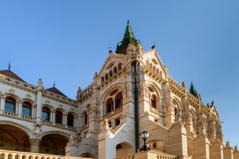 Den nationella gamla parlamentet i Budapest ungrare arkivbild