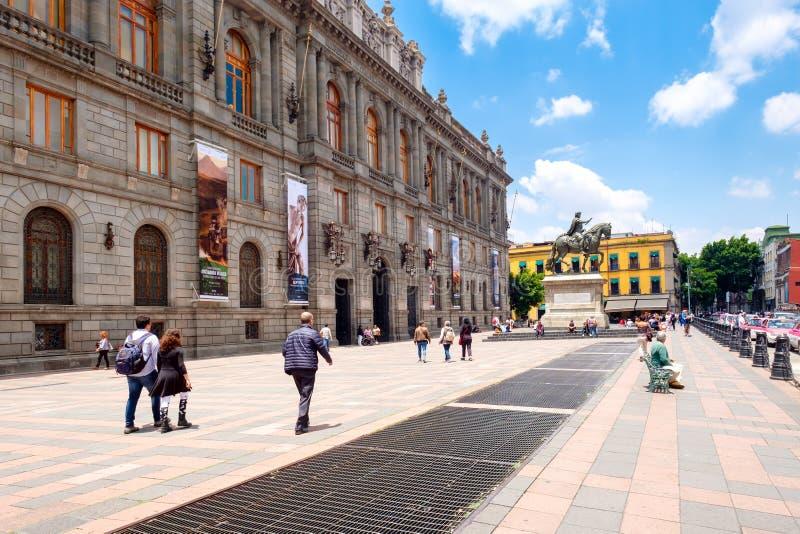 Den nationella konstmuseet i den historiska mitten av Mexico - stad arkivbilder