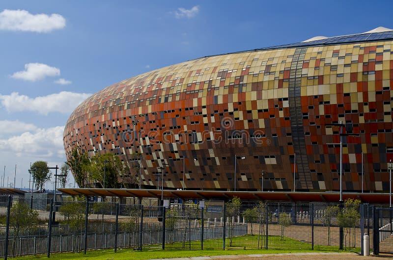 Den nationella stadion utanför Soweto royaltyfria foton