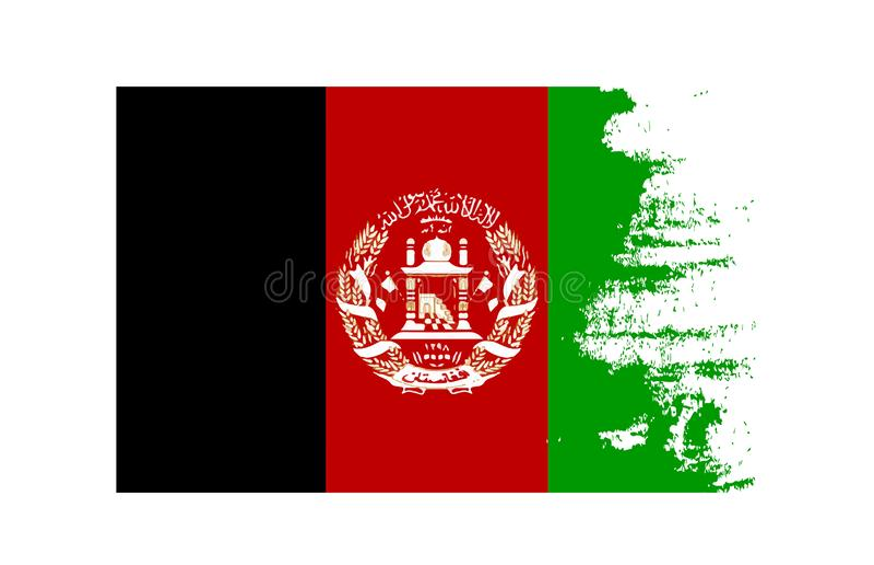 Den nationella symbolen för flagga för Afghanistans landsflagga Skrökt eller skrapat begrepp vektor illustrationer