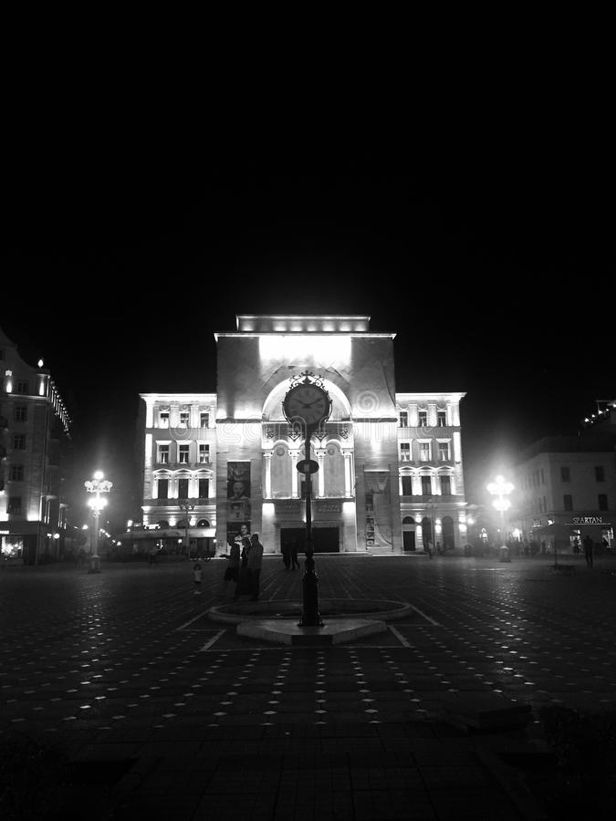 Den nationella teatern, Timisoara, Rumänien arkivfoton