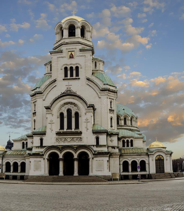 Den Nevsky domkyrkan i Sofia, Bulgarien royaltyfri bild